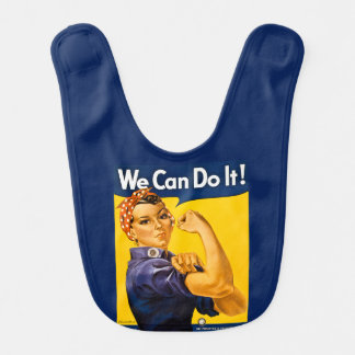 Rosie the Riveter Vintage We Can Do It! WW2 Bib
