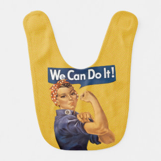 Rosie the Riveter Vintage We Can Do It! WWII Bib