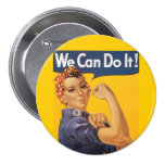 """Rosie the Riveter """"We Can Do IT """" 7.5 Cm Round Badge"""