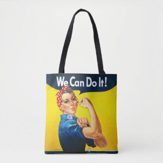 """Rosie the Riveter - """"We Can Do It!"""" All-Over Bag Tote Bag"""