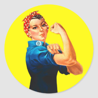 Rosie the Riveter - We can do it, Cultural Icon Round Sticker