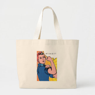 Rosie the Riveter We Can Do It Pop Art Dots Bag