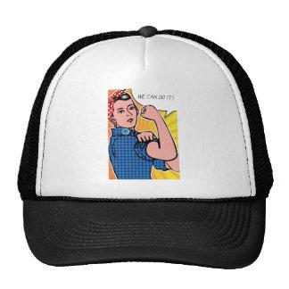 Rosie the Riveter We Can Do It! Pop Art Dots Trucker Hat