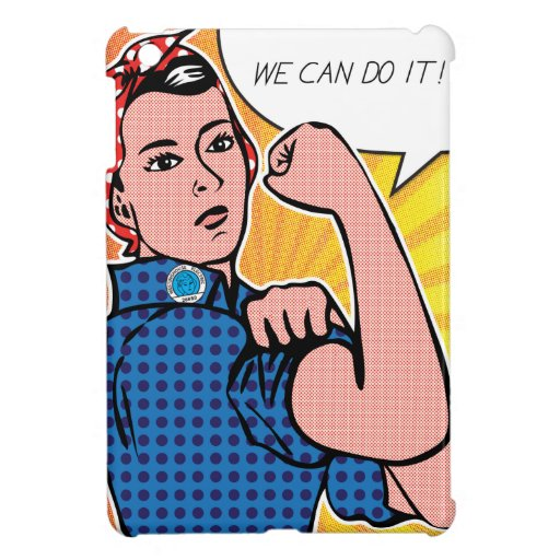 Rosie the Riveter We Can Do It! Pop Art Dots Cover For The iPad Mini