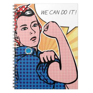 Rosie the Riveter We Can Do It Pop Art Dots Journal