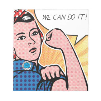Rosie the Riveter We Can Do It! Pop Art Dots Memo Note Pads