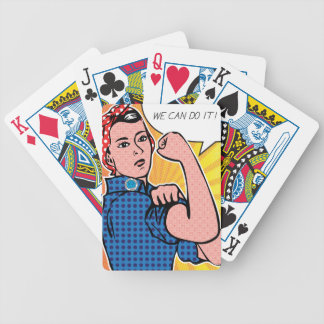 Rosie the Riveter We Can Do It Pop Art Dots Poker Cards