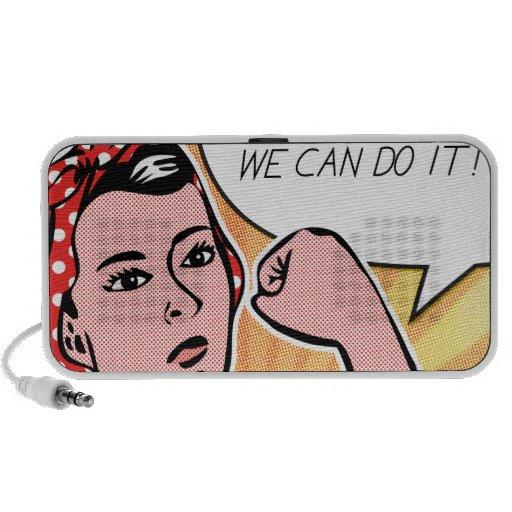 Rosie the Riveter We Can Do It! Pop Art Dots Portable Speaker