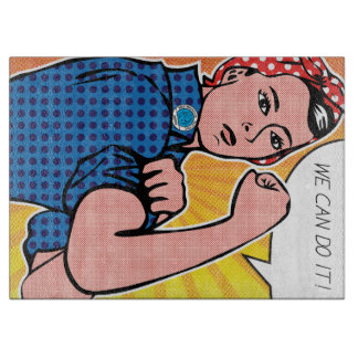 Rosie the Riveter We Can Do It Pop Art Retro Cutting Boards
