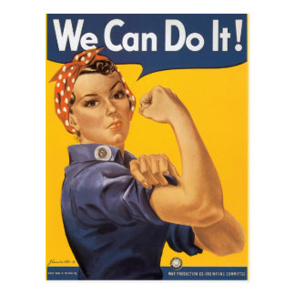Rosie the Riveter We Can Do IT Post Card