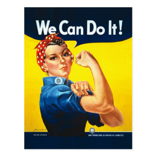 "Rosie the Riveter – ""We Can Do It!"" Postcard"