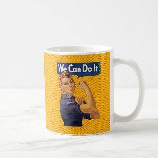 Rosie the Riveter We Can Do It Red Polka Dots Basic White Mug