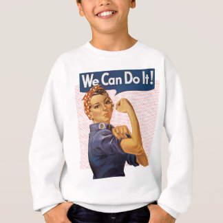 Rosie the Riveter We Can Do It Red Polka Dots Sweatshirt