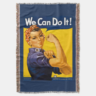 Rosie the Riveter We Can Do It Retro Vintage Icon