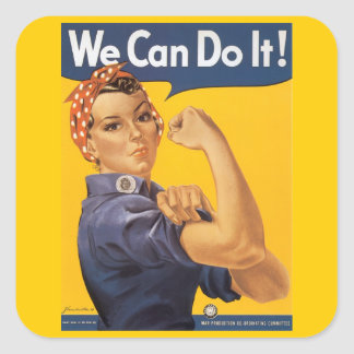 """Rosie the Riveter """"We Can Do IT """" Stickers"""
