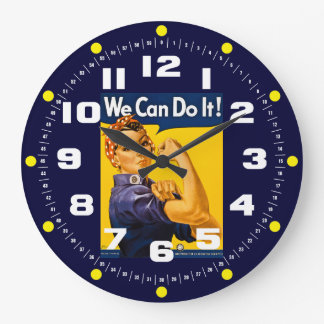 Rosie the Riveter We Can Do It! Vintage Clocks