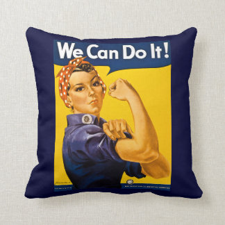 Rosie the Riveter We Can Do It Vintage Cushions
