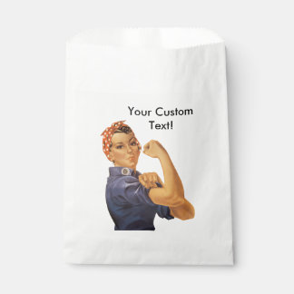 Rosie the Riveter We Can Do It Vintage Custom Text Favour Bags