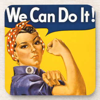 Rosie the Riveter We Can Do It Vintage Drink Coasters