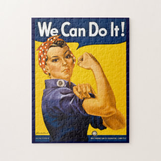 Rosie the Riveter We Can Do It Vintage Jigsaw Puzzle