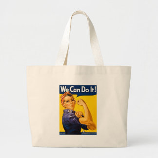 Rosie the Riveter We Can Do It Vintage Jumbo Tote Bag