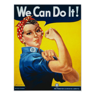 Rosie the Riveter We Can Do It Vintage Poster