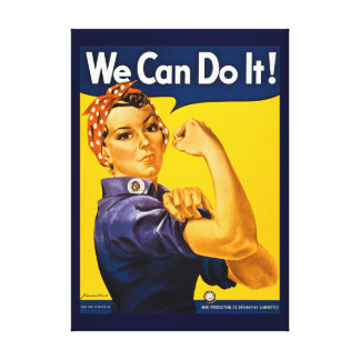Rosie the Riveter We Can Do It Vintage World War 2 Gallery Wrap Canvas