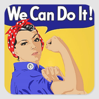 """Rosie the Riveter """"We Can Do It"""" World War II Stickers"""