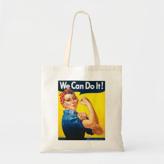 Rosie the Riveter We Can Do It World War Two Canvas Bag