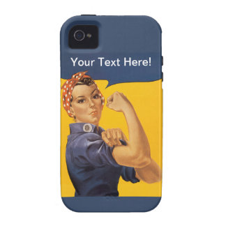 Rosie the Riveter We Can Do It! Your Text Here iPhone 4 Cover