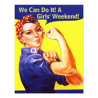 Rosie The Riveter We Can GIRLS FRIENDS INVITATION