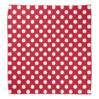 Rosie the riveter white polka dots on red bandana