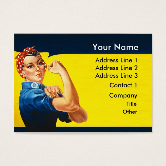 Rosie The Riveter WW2 War Effort Working Woman Business Card