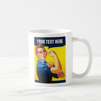 Rosie The Riveter WW2 War Effort Working Woman Coffee Mug
