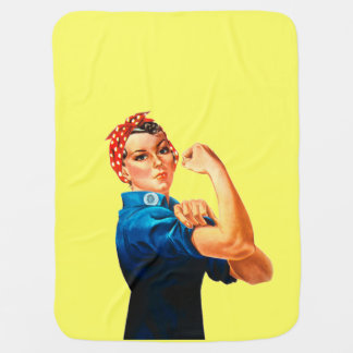 Rosie The Riveter WWII Poster Baby Blanket