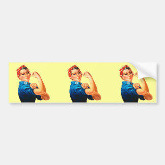 Rosie The Riveter WWII Poster Bumper Sticker