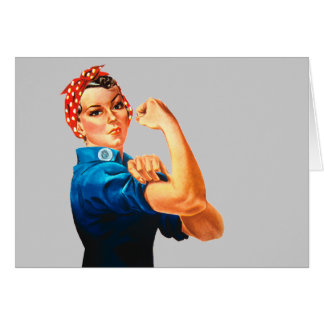 Rosie The Riveter WWII Poster Greeting Card