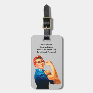 Rosie The Riveter WWII Poster Luggage Tag