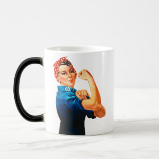 Rosie The Riveter WWII Poster Mugs