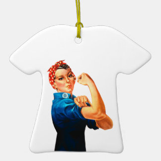 Rosie The Riveter WWII Poster Ornament
