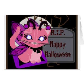 Rosie Toon Kitty Fairy Kitten with Tomb Card