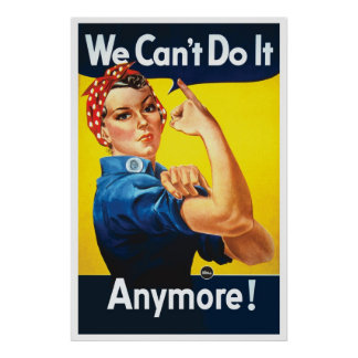 Rosie Unriveted We Can t Do it Anymore LARGE Poster
