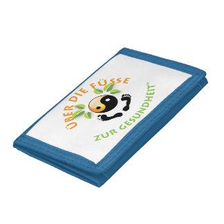Rosie Wohlfühl Oase Brieftasche 3falt blau Nylon1 Tri-fold Wallet