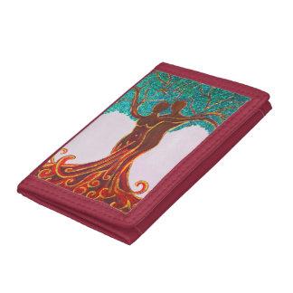 Rosie Wohlfühl Oase Brieftasche 3falt rot Nylon4 Tri-fold Wallet