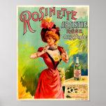 Rosinette Absinthe Rose Oxygénée Vintage Fine Art Poster