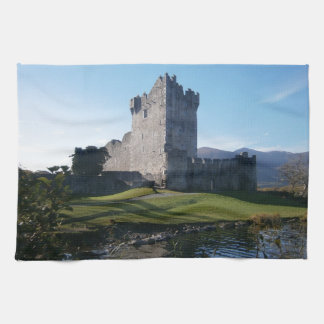 Ross castle Killarney Tea Towel