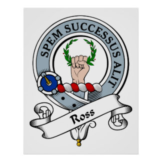 Ross Clan Badge Poster