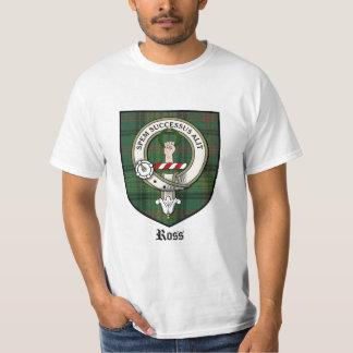 Ross Clan Crest Badge Tartan T-Shirt