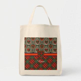 Ross clan Plaid Scottish tartan Tote Bags