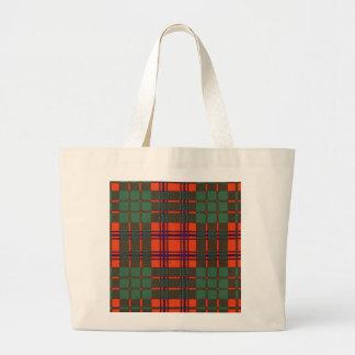 Ross clan Plaid Scottish tartan Canvas Bag